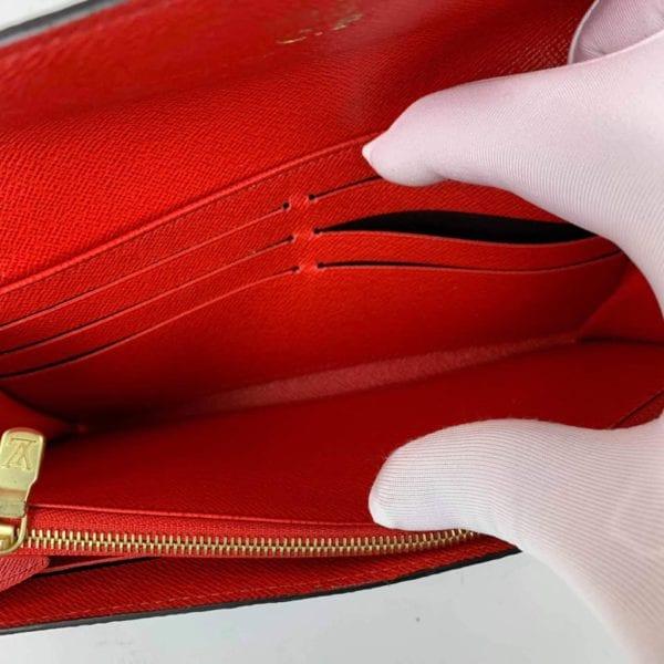 Louis Vuitton Monogram Sarah Wallet with Red Interior