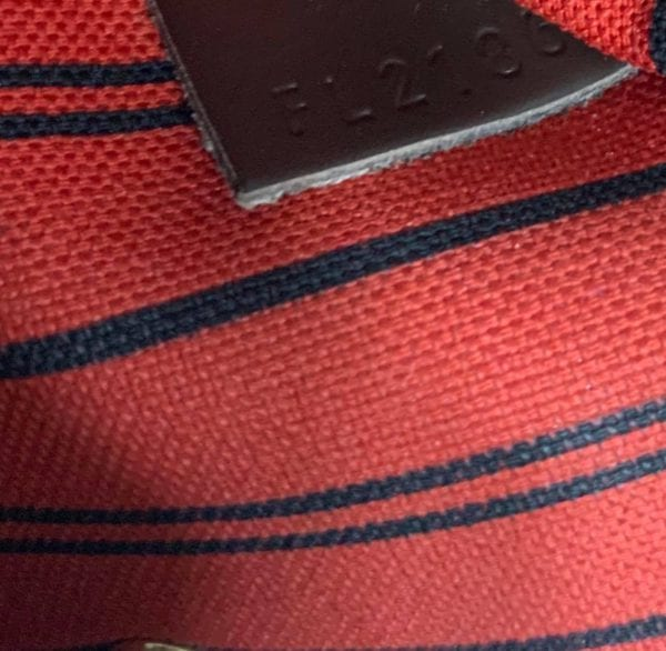 Louis Vuitton Damier Ebene Neverfull MM with Red Interior