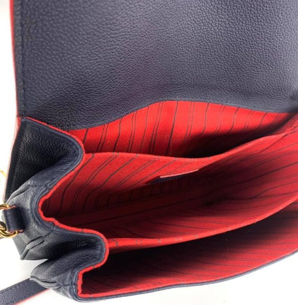 Louis Vuitton Empreinte Pochette Metis Marine Rouge