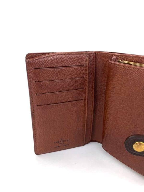 Louis Vuitton Brown French Monnaie Viennois Kisslock Wallet