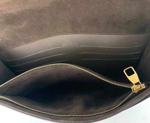 Louis Vuitton Calfskin Chain Louise GM Shoulder Bag