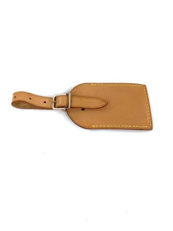 Louis Vuitton Vachetta Luggage Tag with Vivienne Stamp