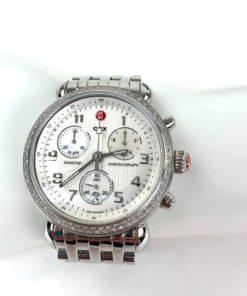 Michele Diamond CSX 36 Silver Watch