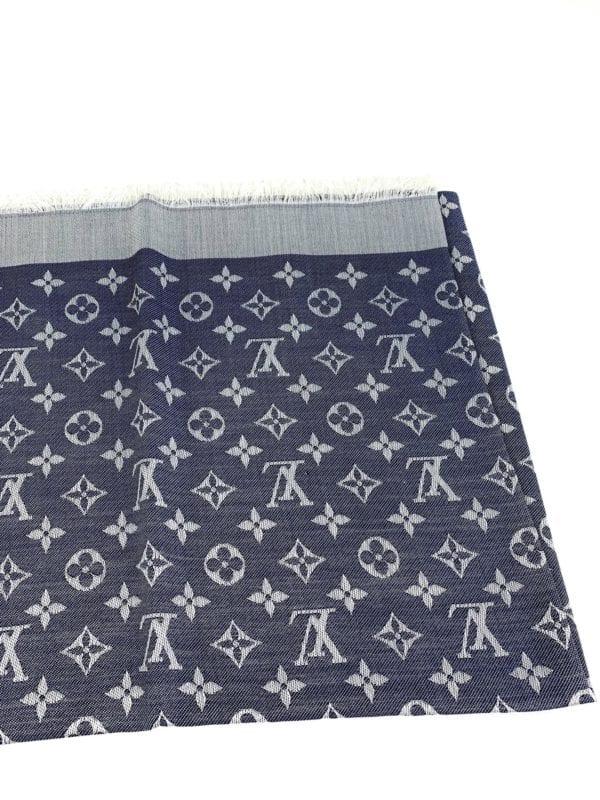 Louis Vuitton Monogram Shine Shawl Denim Blue