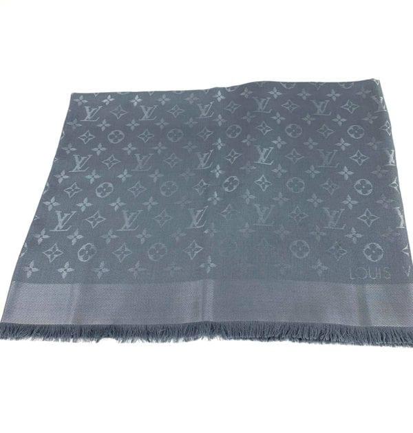 Louis Vuitton Monogram Shine Shawl Charcoal Grey