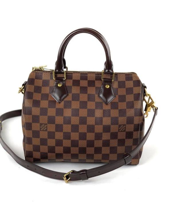 Louis Vuitton Damier Ebene Speedy Bandouliere 25