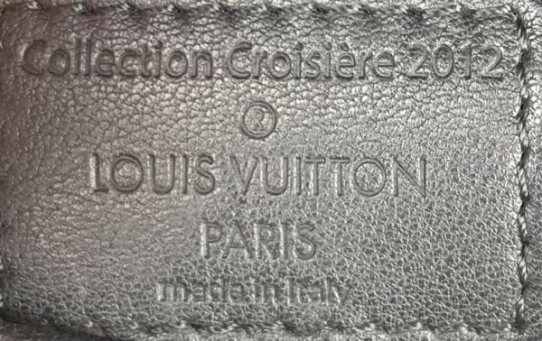 Louis Vuitton Limited Edition Black Flore Perforated Leather Saumur