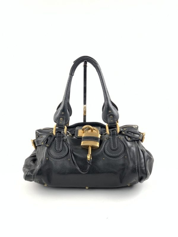 Chloe Paddington Black Leather Satchel