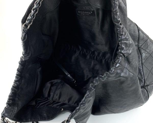 Chanel Distressed Black Caviar Coco Cabas XL
