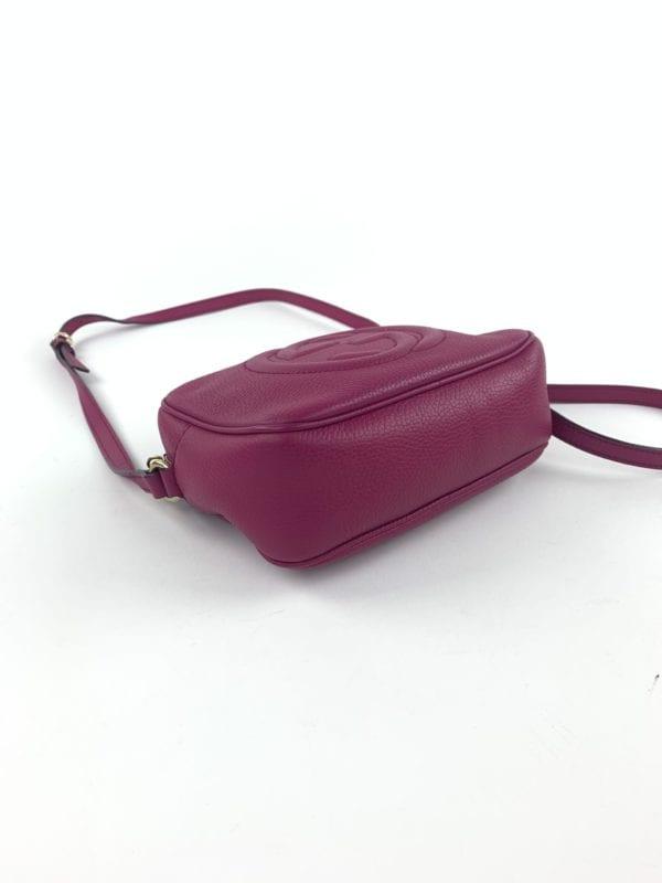 Gucci Raspberry Leather Soho Disco