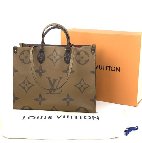 BRAND NEW Limited Edition Louis Vuitton Reverse Monogram Giant On The Go GM