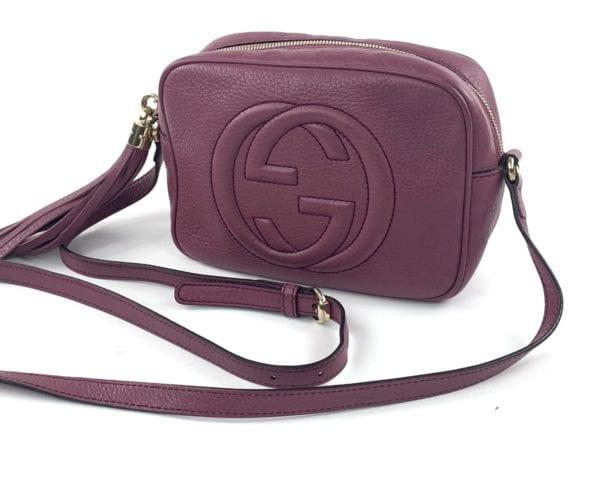 Gucci Mauve Rose Leather Soho Disco