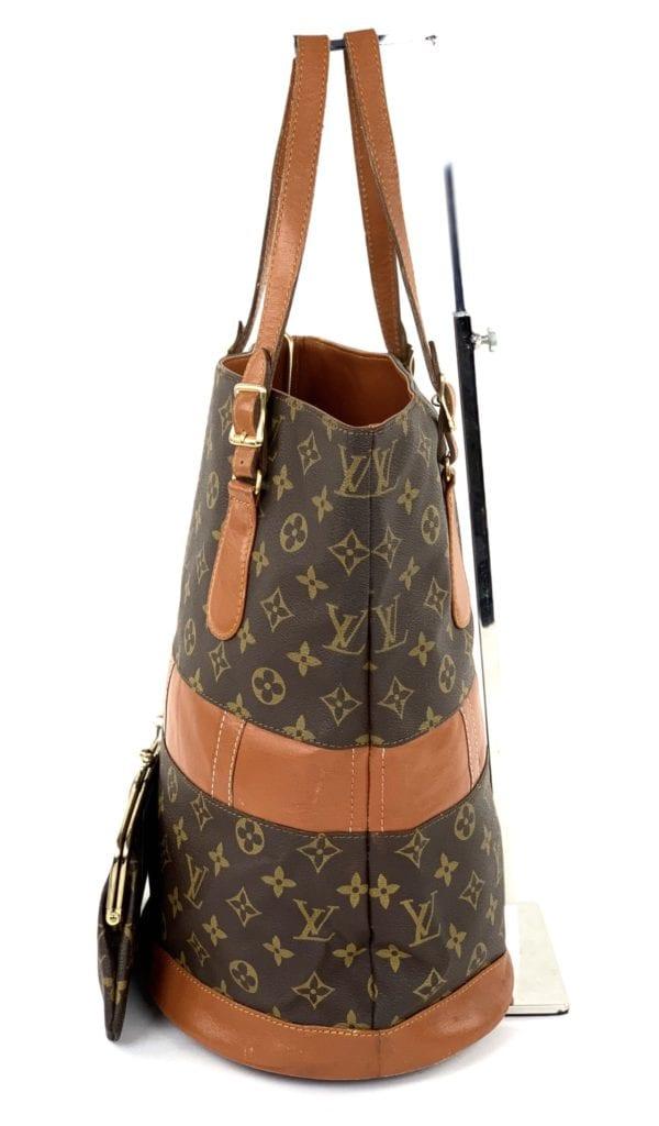 Louis Vuitton Monogram French Company Label Bucket Bag GM
