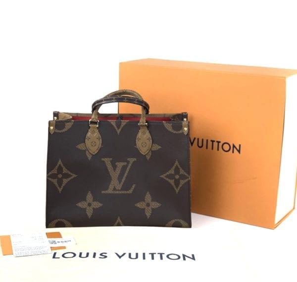 BRAND NEW Louis Vuitton Monogram Reverse Giant On The Go MM