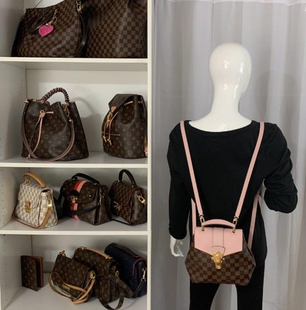 Louis Vuitton Damier Ebene Clapton Backpack Magnolia