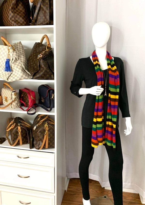 Louis Vuitton Limited Edition Rainbow Striped Scarf
