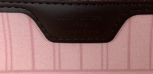 Louis Vuitton Damier Ebene Neverfull MM Rose Ballerine