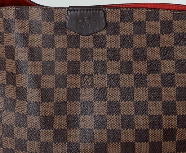 Louis Vuitton Damier Ebene Graceful MM Red Interior