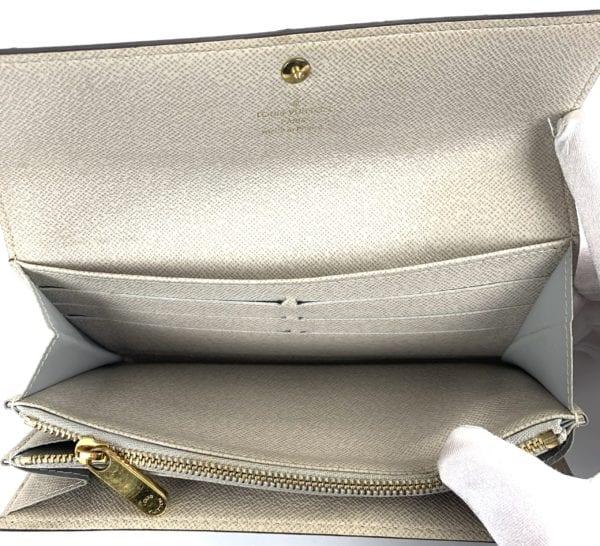 Louis Vuitton Monogram Dentelle Sarah Wallet Silver