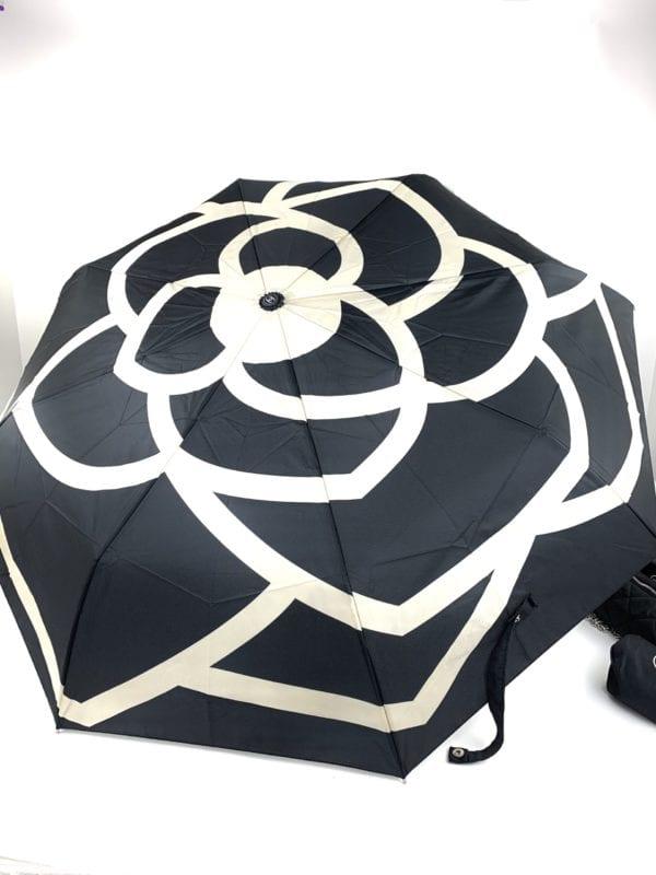 Chanel Camellia Umbrella Black/Cream