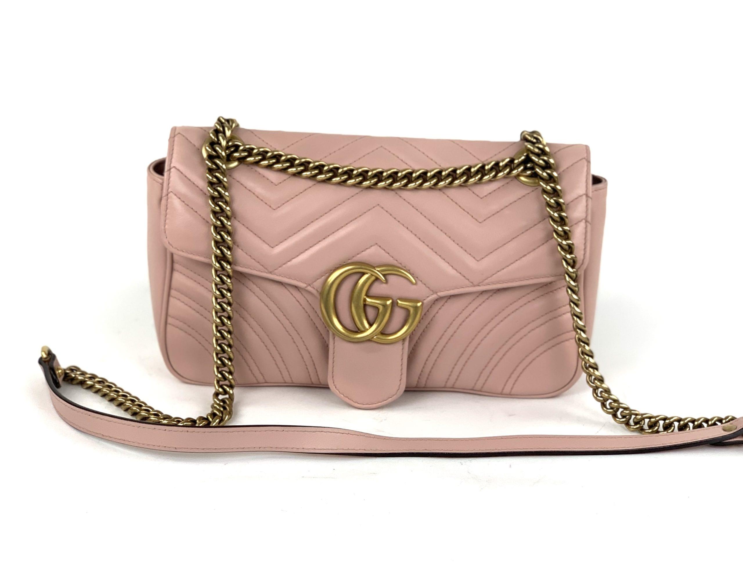 Gucci GG Marmont matelassé shoulder bag - Black