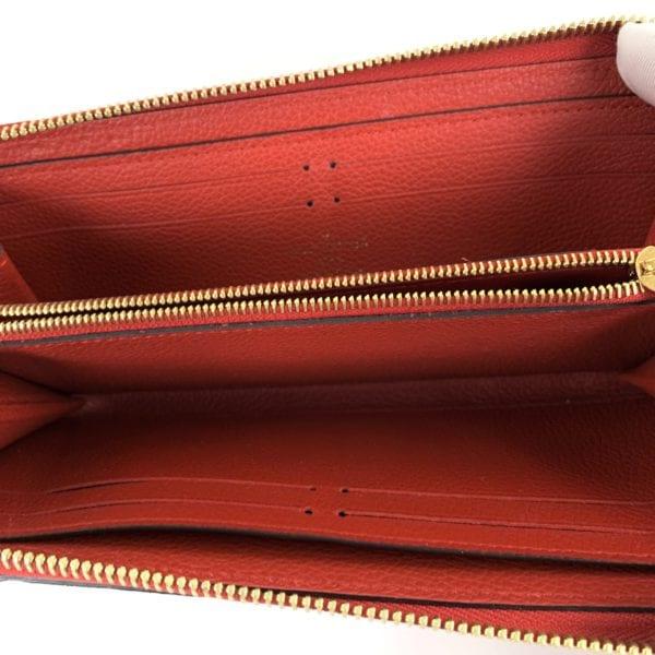 Louis Vuitton Empreinte Clemence Wallet Red
