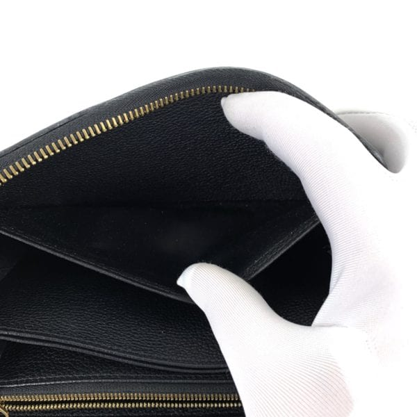 Louis Vuitton Empreinte Zippy Wallet Black