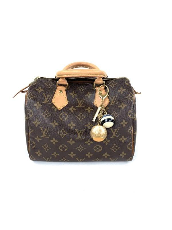 Louis Vuitton Mini Lin Croisette Bag Charm Blue