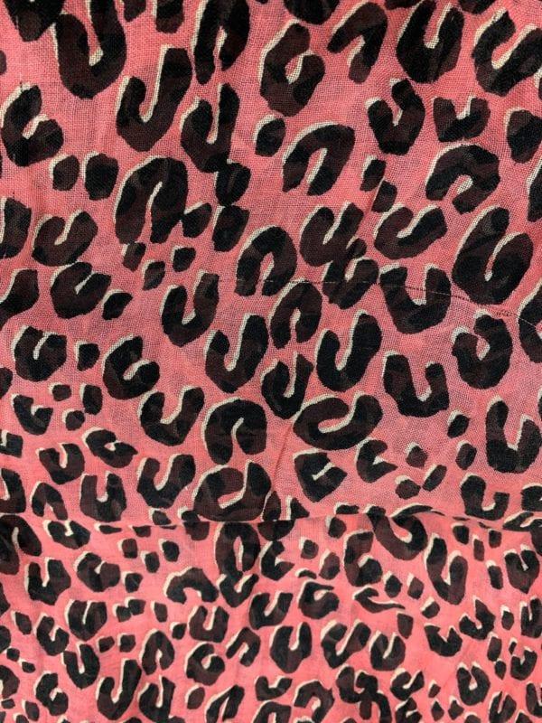 Louis Vuitton Leopard Stole Coral
