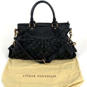 Louis Vuitton Denim Neo Cabby MM Noir Black