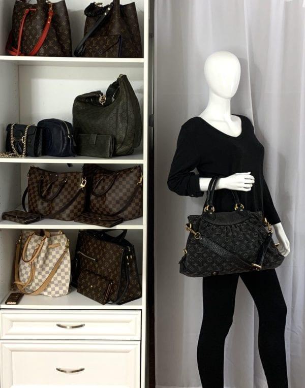 Louis Vuitton Denim Neo Cabby MM Noir Black