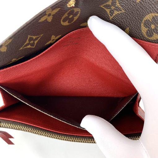 Louis Vuitton Monogram Emilie Wallet Red