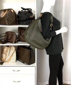 Gucci Guccissima Large GG Twins Hobo & Wallet Olive Green