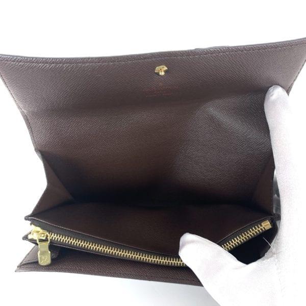 Louis Vuitton Damier Ebene Long Pochette Porte-Monnaie Wallet