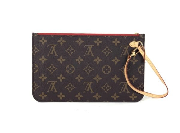 Louis Vuitton Monogram Neverfull Pochette Cerise