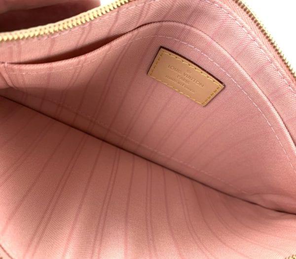 Louis Vuitton Damier Azur Neverfull Pochette Rose Ballerine