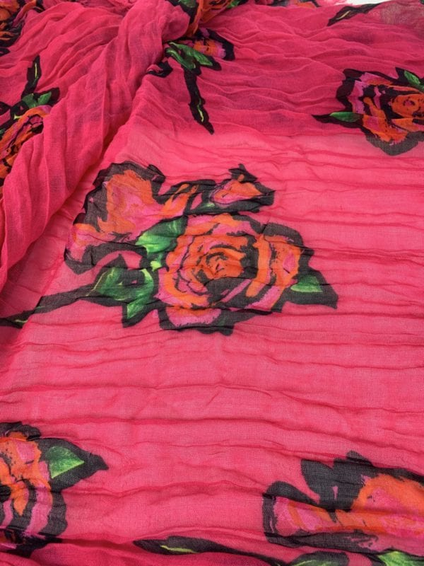 Louis Vuitton Stephen Sprouse Pink Roses Large Scarf