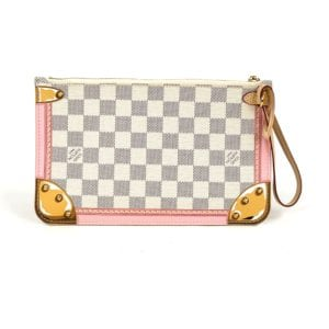 Louis Vuitton Damier Azur Summer Trucks Neverfull Pouch