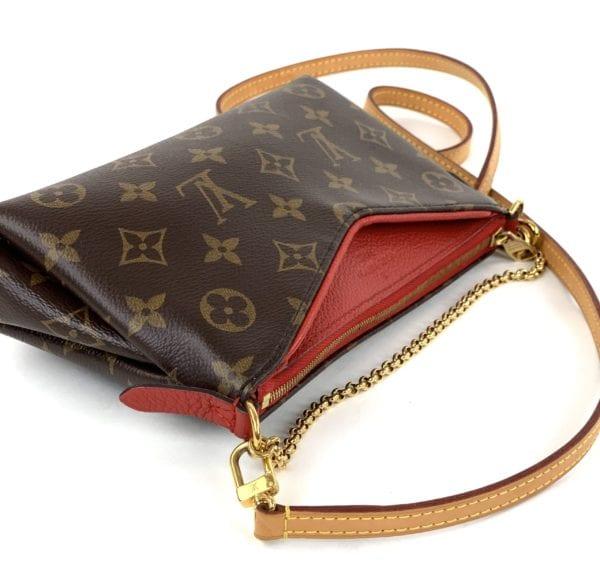 Louis Vuitton Monogram Pallas Clutch Red