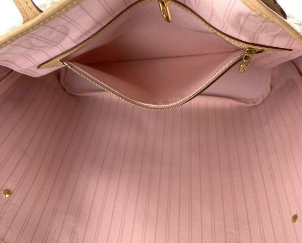 Louis Vuitton Damier Azur Neverfull MM Rose Ballerine