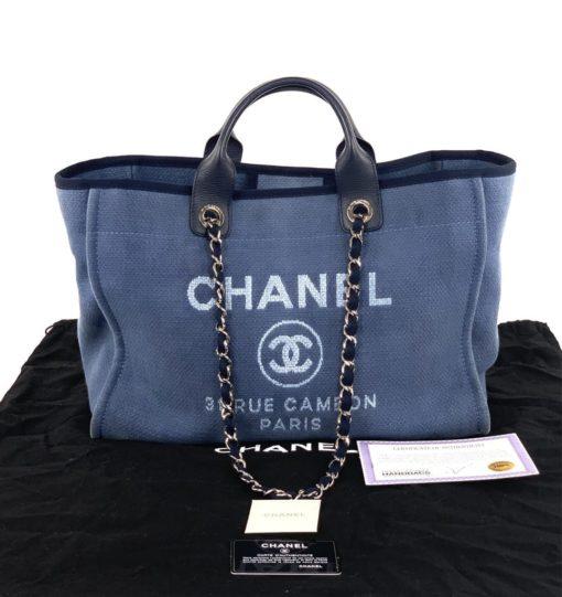 Chanel Deauville Large Denim Blue