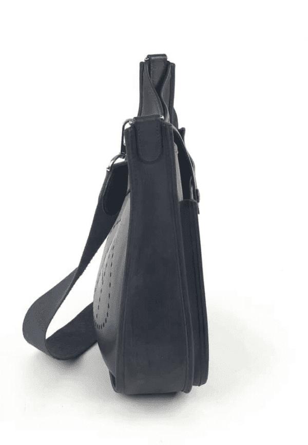 Hermes Evelyne II Dark Navy Blue Vache Leather Crossbody