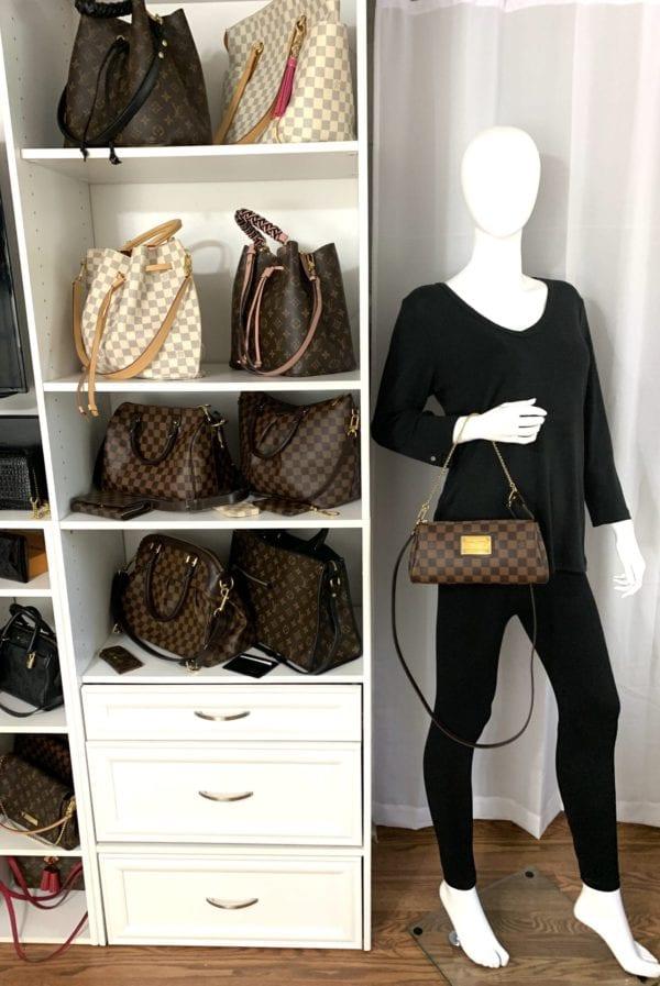 Louis Vuitton Damier Ebene Eva Crossbody