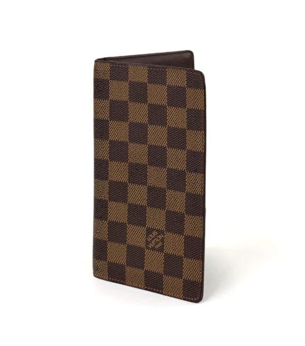 Louis Vuitton Damier Ebene Checkbook Wallet