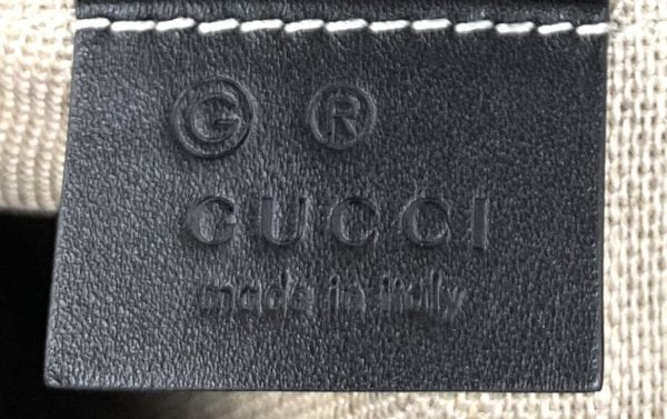 Gucci Messenger Bree Micro GG Guccissima Black Leather Crossbody