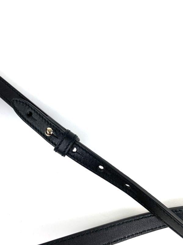 Gucci Messenger Bree Micro GG Guccissima Black Leather Crossbody