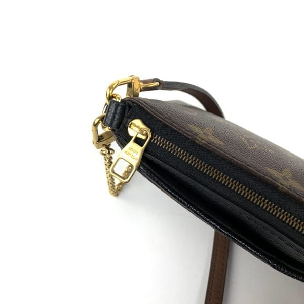 Louis Vuitton Monogram Pallas Clutch Crossbody Noir