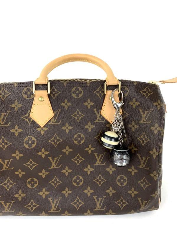 Louis Vuitton Black and White Resin Mini Lin Key Holder Charm