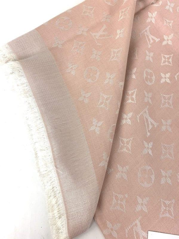 Louis Vuitton Monogram Denim Shawl Pink