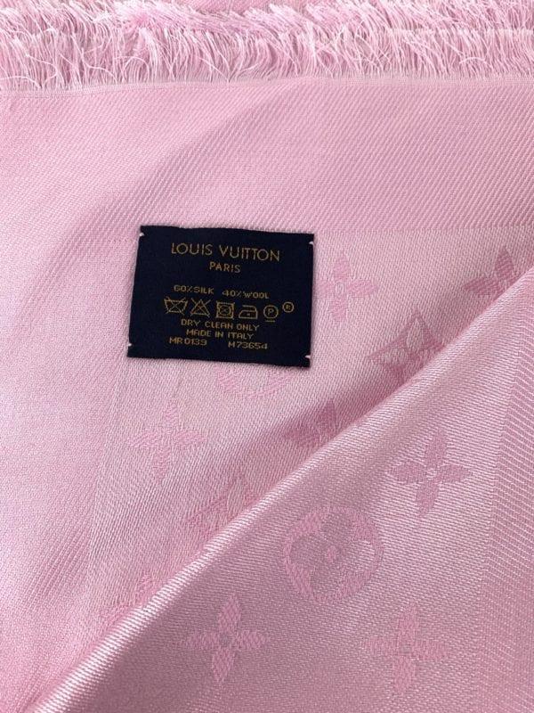Louis Vuitton Monogram Shawl Velvet Rose